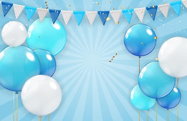 Urlaubshintergrund mit luftballons