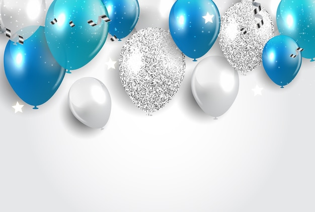 Urlaubshintergrund mit luftballons.
