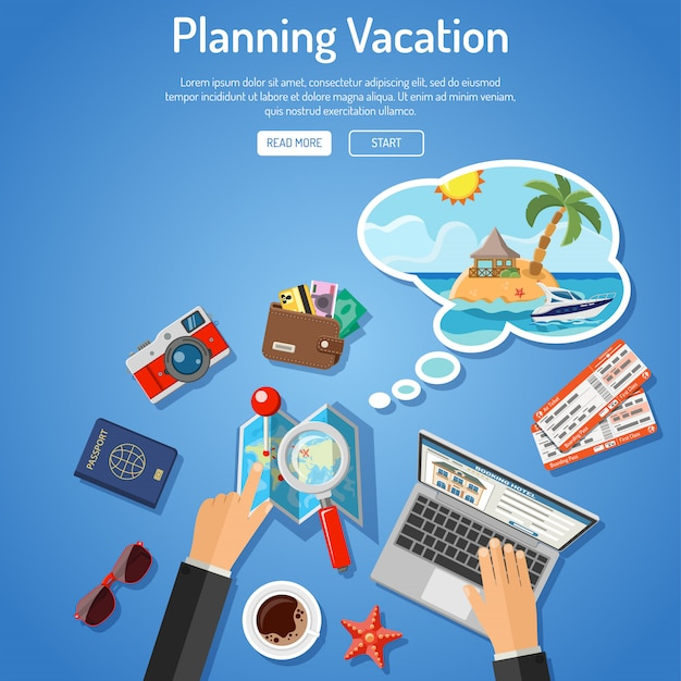 Urlaubsplanung konzept
