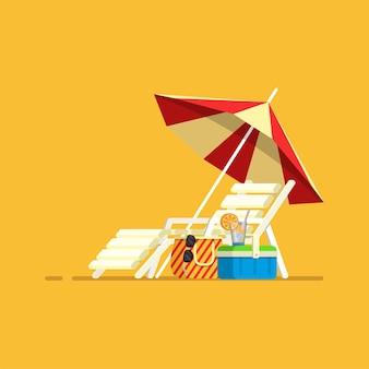 Urlaubsreise urlaub sonnenschirm strandkorb