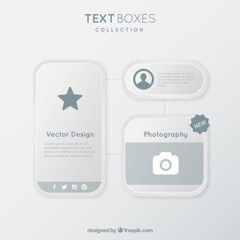 Ursprüngliche textfelder pack