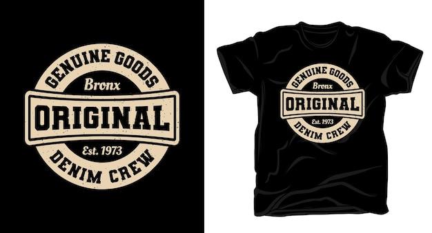 Ursprüngliche uni-typografie für t-shirt-design