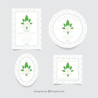 Ursprüngliche vielzahl der netten jasminkarten