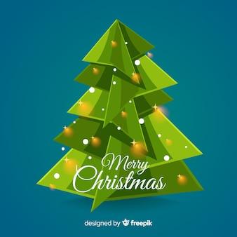 Ursprünglicher weihnachtsbaumhintergrund