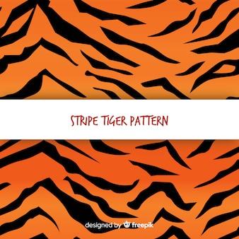 Ursprüngliches tigermuster mit flachem design