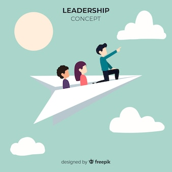 Ursprüngliche Führungszusammensetzung mit Papierfliegern