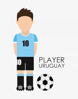 Uruguay-design über weißer hintergrundvektorillustration