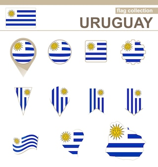 Uruguay-flaggensammlung, 12 versionen