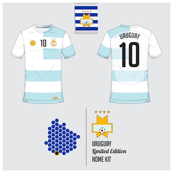 Uruguay fußball trikot oder fußball kit vorlage