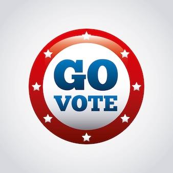 Us-präsidentschaftswahlkonzept