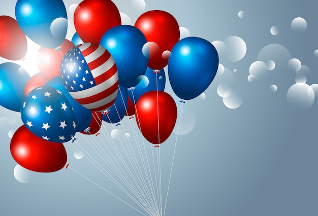 Usa 4. juli unabhängigkeitstag mit luftballons