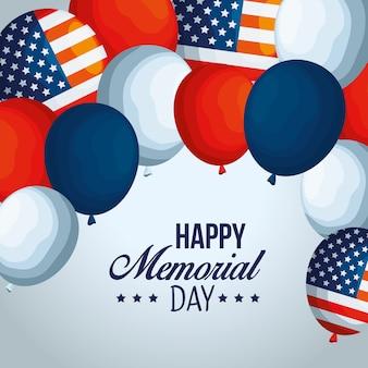 Usa-ballonflaggendekoration zum feiertag