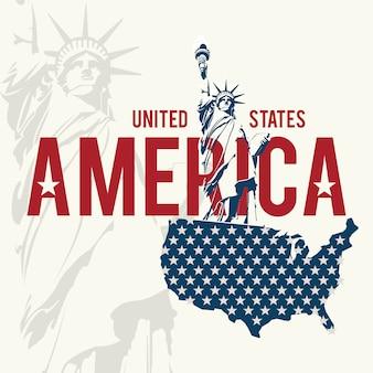 Usa-design über weißem hintergrund