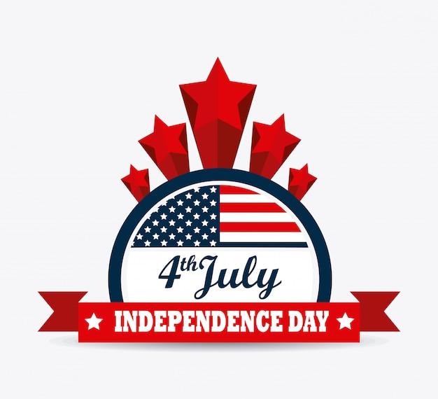 Usa design. unabhängigkeitstag 4. juli