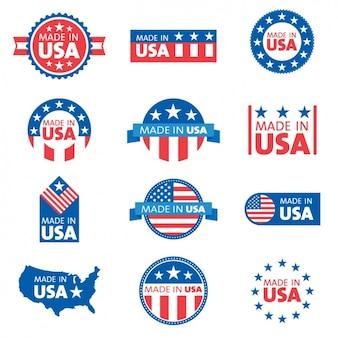 Usa-etiketten sammlung