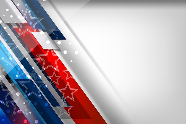 Usa-farbflaggen-konzepthintergrund für unabhängigkeit