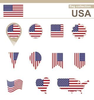 Usa flag collection, 12 versionen