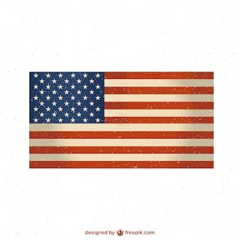 Usa-flagge frei grunge-design