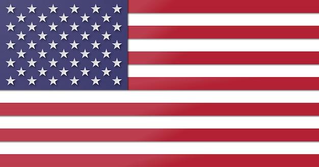 Usa flagge. papierschnitt und bastelstil