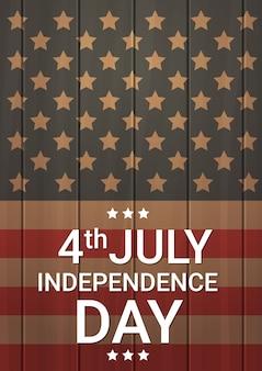 USA-Flaggen-hölzerner Beschaffenheits-Unabhängigkeitstag