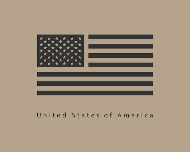 Usa-flaggenvektor. modernes symbol der vereinigten staaten von amerika. amerikanisches banner-design-element.