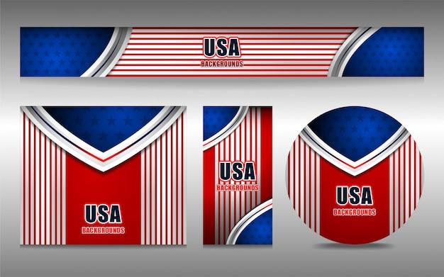 Usa-hintergrund für unabhängigkeitstag