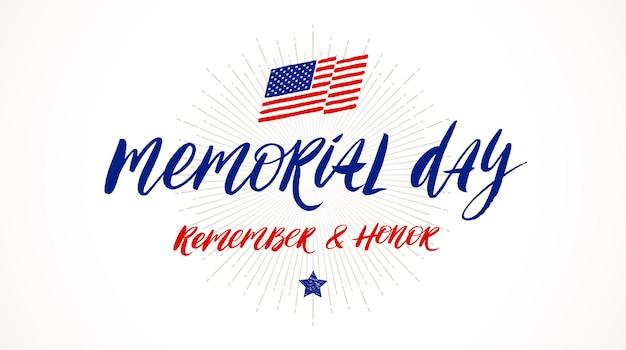 Usa memorial day grußkarte typ design