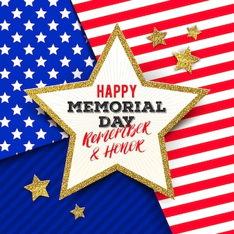Usa memorial day grußkarten-design