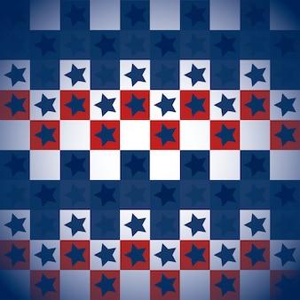 Usa-muster mit quadraten und sternen