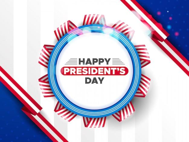 Usa president's day hintergrund mit abzeichen