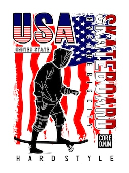 Usa skateboard design