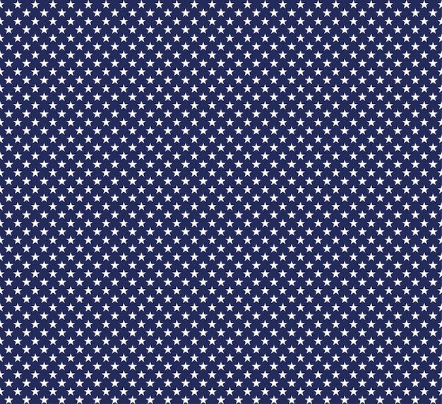 Usa-sternvektor nahtloser hintergrund amerikanischer patriotischer papierschnittrahmen mit sternen auf blauem muster