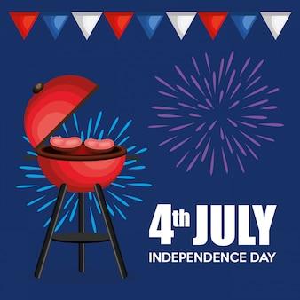 Usa-unabhängigkeitstag-grillparty