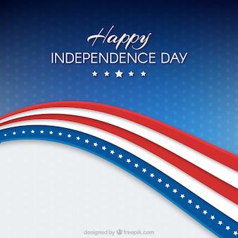 Usa unabhängigkeitstag hintergrund flagge design