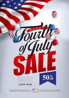 Usa unabhängigkeitstag verkauf werbung werbebanner vorlage.4. juli feier poster vorlage.