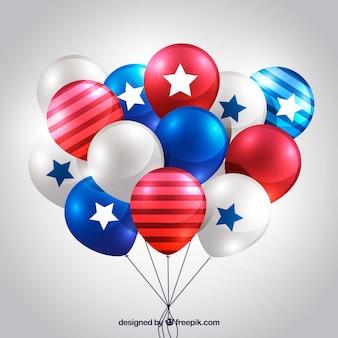 Usa unabhängigkeitstags realistische ballons