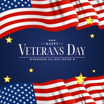 Usa-veteranen-tagesplakat. vektor-illustration. eps10