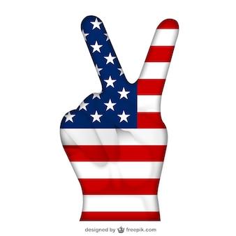 Usa victory-zeichen
