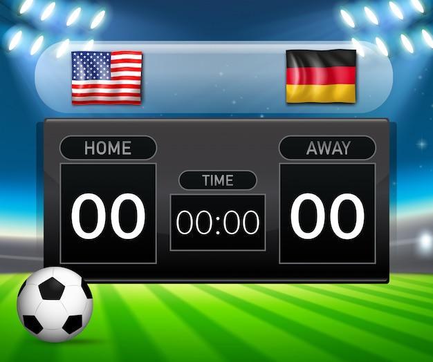 Usa vs deutschland anzeiger