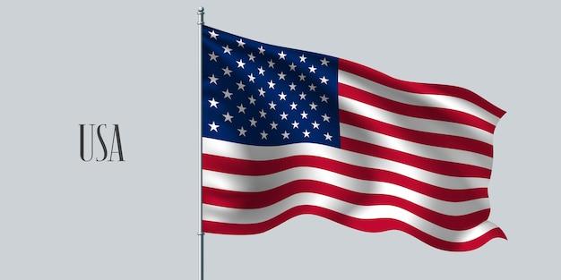 Usa winkende flaggenillustration