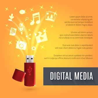 Usb flash drive medien