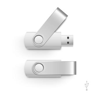Usb flash drive stick memory set isoliert