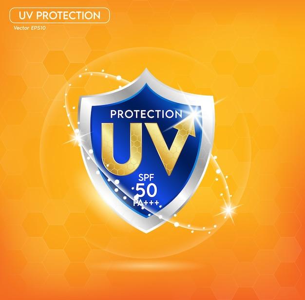 Uv-schutz oder ultravioletter sonnenschutz.