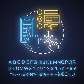 Ux neonlicht komposition