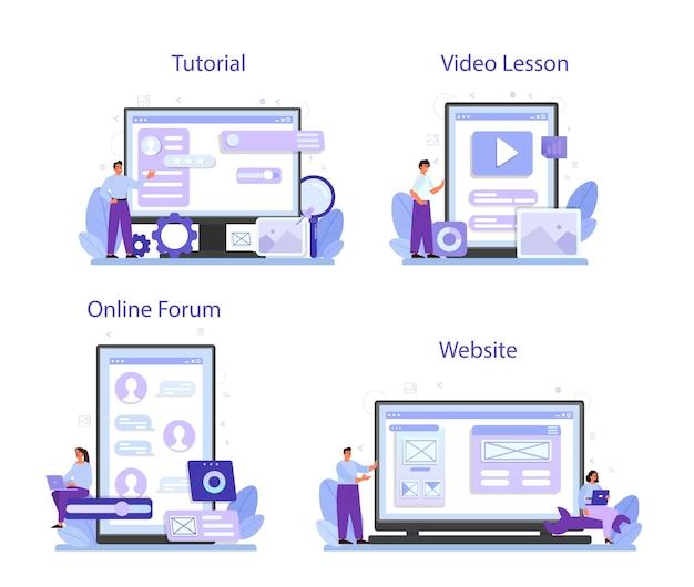 Ux ui designer-onlinedienst oder plattformsatz