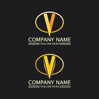 V letter lightning logo vorlage vektor icon illustration design