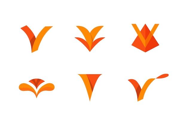 V logo set