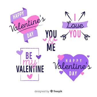 Valentine abzeichen sammlung