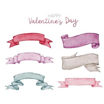 Valentine aquarell element bannersammlung