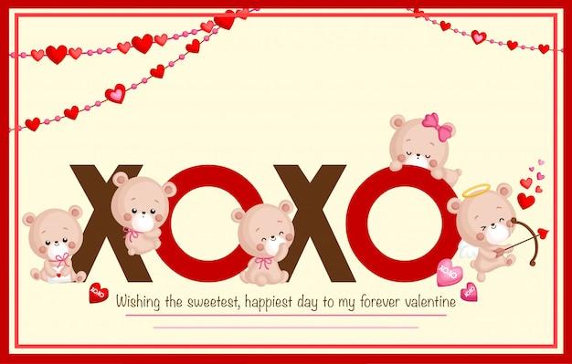Valentine-bärenkarte